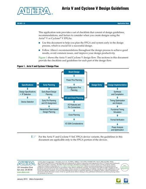 Arria V and Cyclone V Design Guidelines - Altera