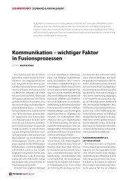 Kommunikation – wichtiger Faktor in Fusionsprozessen - Nolte ...