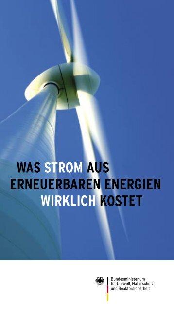was strom aus erneuerbaren energien wirklich kostet - Heuersdorf