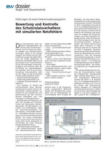 Bewertung und Kontrolle des ... - Walter Schossig