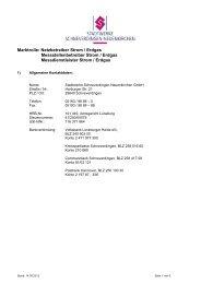 Informationsblatt zur Marktkommunikation nach GPKE - Stadtwerke ...