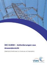 IEC 61850 – Anforderungen aus Anwendersicht - VDE