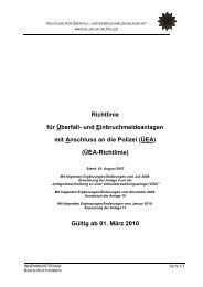 ÜEA-Richtlinie - Stand: 1. August 2007 - Polizei Baden-Württemberg
