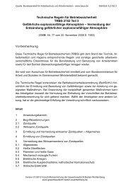Technische Regel für Betriebssicherheit TRBS 2152 Teil 3 ...