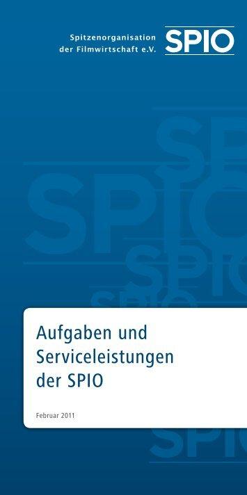 Flyer: Aufgaben und Serviceleistungen der SPIO