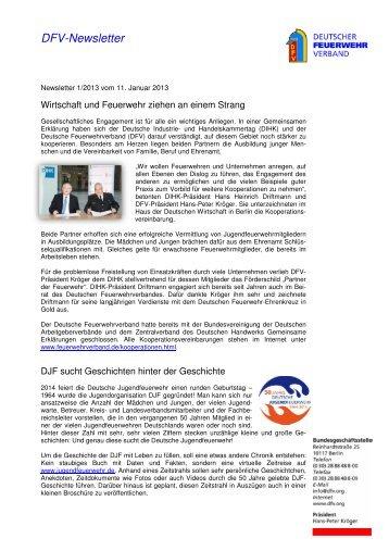 DFV-Newsletter 1/2013 - Deutscher Feuerwehrverband