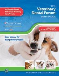 Veterinary dental forum - Butler Schein Animal Health