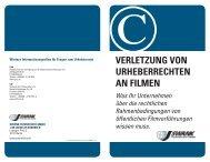 verletzung von urheberrechten an filmen - Deutscher ...