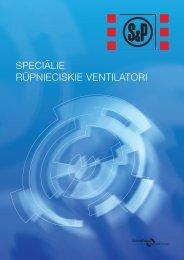 Speciālie rūpnieciskie ventilatori - S&P Baltic