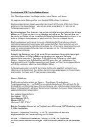Haushaltsrede der SPD-Fraktion - Stadt Leimen