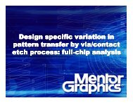Design specific variation in pattern transfer by via/contact etch ...