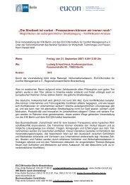 Programm - Von Kenne & Dietrich Partnerschaft