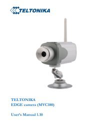 TELTONIKA EDGE camera (MVC100) User's Manual 1.10