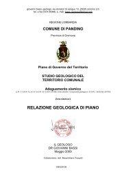 148-029-09 Relazione geologica Pandino - Comune di Pandino