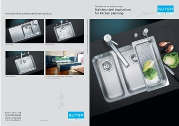 Stainless steel inspirations for kitchen planning - Suter Inox AG
