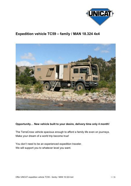 Expedition vehicle TC59 – family / MAN 18 324 4x4