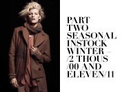part two seasonal instock winter – /2 thous /00 and eleven/11