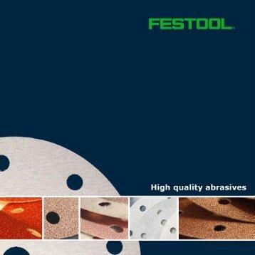 Festool Abrasives Brochure - Jamestown Distributors