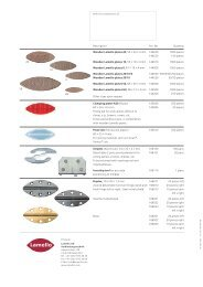 20 S6 10 0 H9 Description Art. No. Quantity Wooden Lamello plates ...