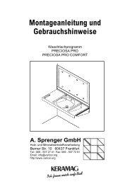 Montageanleitung Waschtischmodell Preciosa Pro und ... - Varicor