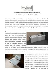 Twyford Bathrooms Gives Its 'All' at Ecobuild 2013