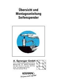 Übersicht und Montageanleitung der Seifenspender-Modelle - Varicor