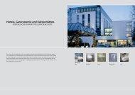 Hotels, Gastronomie und Kulturstätten. - Keramag AG