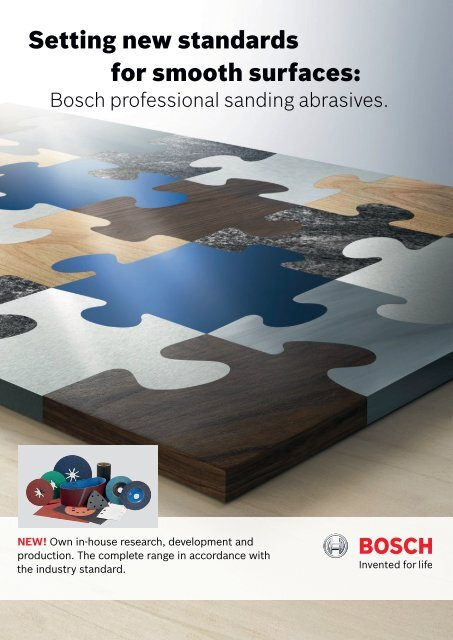 Setting new standards for smooth surfaces: - Bosch