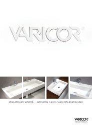 Waschtisch CARRÉ – schlichte Form, viele Möglichkeiten - Varicor