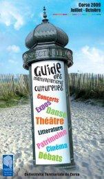 Guide des manifestations culturelles été 2009 - Outil culturel corse ...