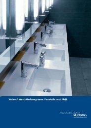 Varicor® Waschtischprogramm. Formteile nach Maß.
