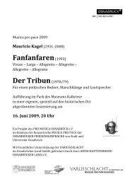 Fanfanfaren (1993) - Osnabrücker Friedensgespräche - Universität ...