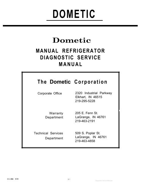 Dometic ndr1292-s user manual | 16 pages.