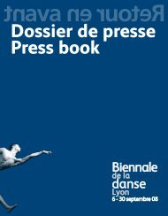 Dossier de presse Press book - La Biennale de Lyon