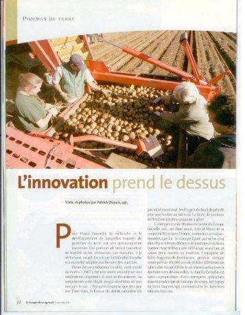 L'innovation prend le dessus - Groupe Gosselin