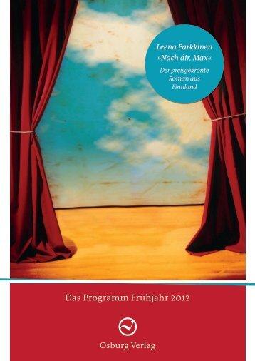 Das Programm Frühjahr 2012 - Prolit Verlagsauslieferung GmbH
