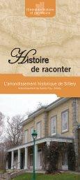 L'arrondissement historique de Sillery ( PDF : 2,1 - Ville de Québec