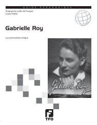 Gabrielle Roy - TFO