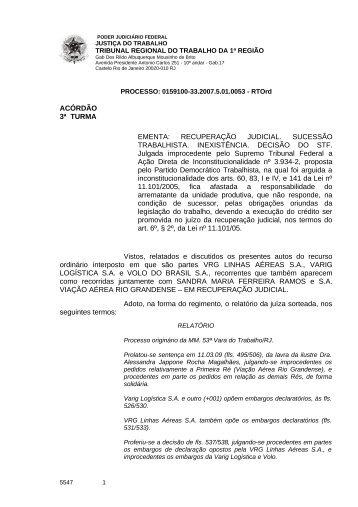 01591003320075010053#12-0 - Tribunal Regional do Trabalho da ...