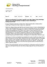 Høring om politiattest for ansatte i bedrifter som tilbyr tiltaket Varig ...