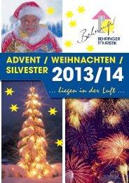 ADVENT / WEIHNACHTEN / SILVESTER - Behringer Touristik