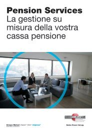 Opuscolo Pension Services - Groupe Mutuel