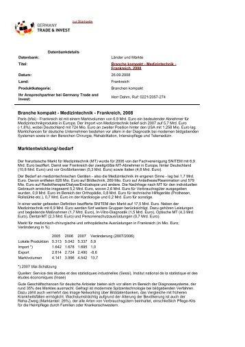 Branche kompakt - Medizintechnik - Industrie- und Handelskammer ...