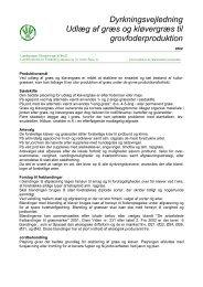 Dyrkningsvejledning Udlæg af græs og kløvergræs ... - LandbrugsInfo