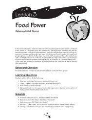 Lesson 3 • Food Power - Planet Health