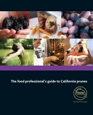 The food professional's guide to California prunes