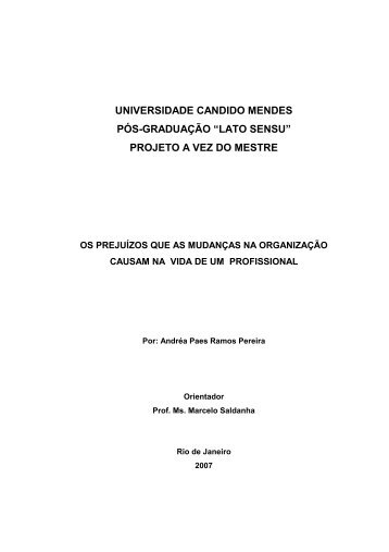 Exemplo de Monografia - AVM Faculdade Integrada