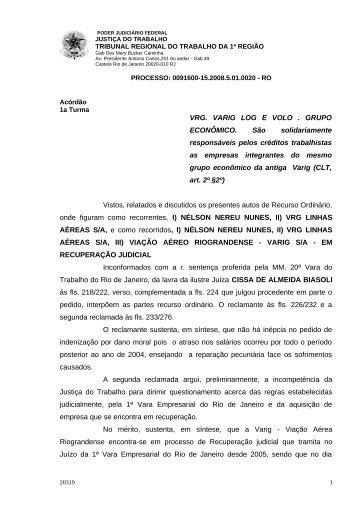 00916001520085010020#09-1 - Tribunal Regional do Trabalho da ...