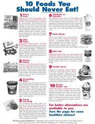 10 Foods You Should Never Eat! - Ten Super Foods For Better Health!