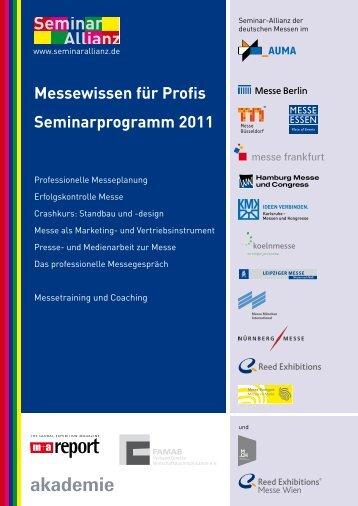 Seminarprogramm 2011 - Leipziger Buchmesse